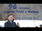 PREZYDENT ANDRZEJ DUDA  w rocznicę Zaślubin Polski z Morzem