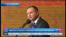 Przemówienie Prezydenta Andrzeja Dudy oraz Ministra Antoniego Macierewicza